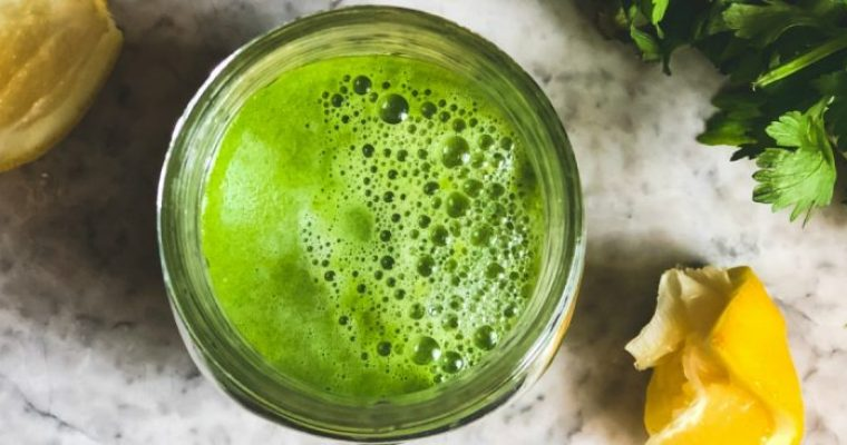 Celery, Ginger and Lemon Juice—Magical Elixir