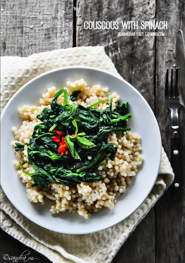 Couscous with Spinach