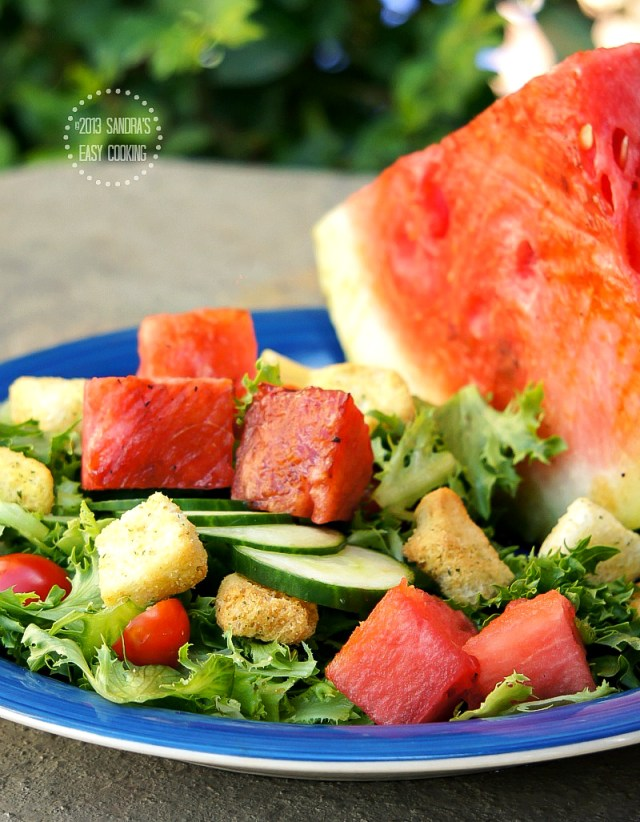 Salad with Chipotle Grilled Watermelon