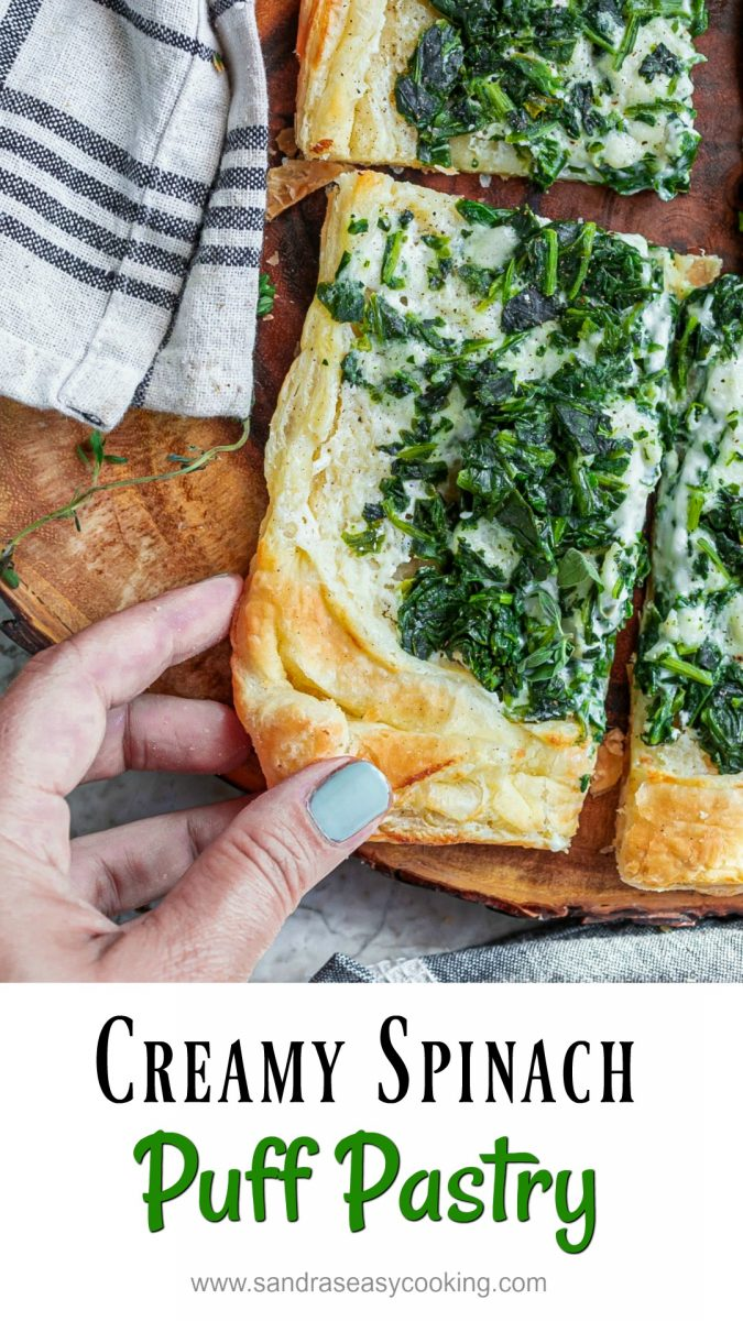 Creamy Spinach Puff Pastry Recipe I have been playing with some really easy recipes lately just like this tasty creamy spinach puff pastry. This pastry is extremely easy and very delicious.