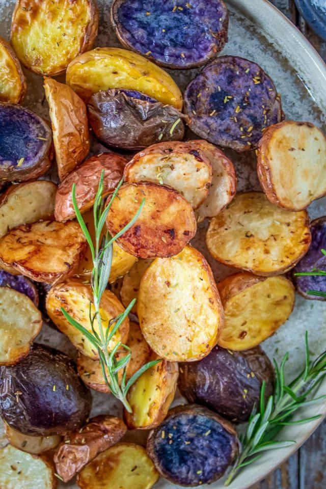Air Fryer Rainbow Potatoes