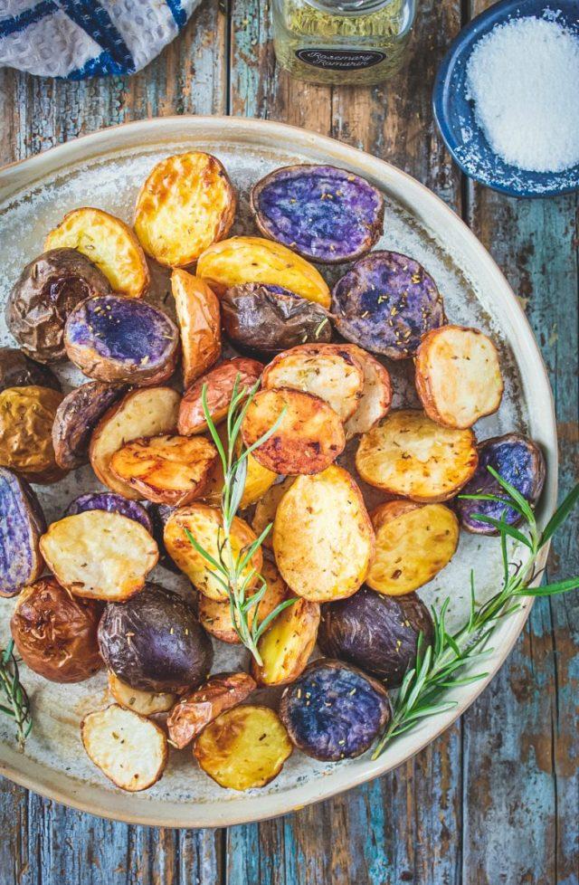 Air Fryer Rainbow Potatoes with Rosemary