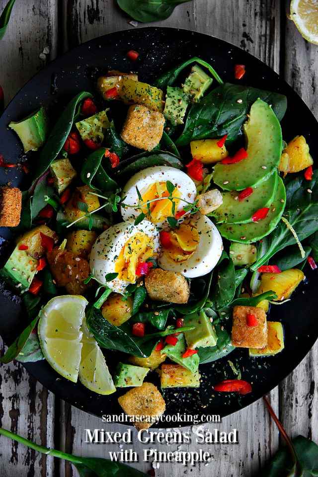 Mixed Greens Salad with Pineapple Recipe