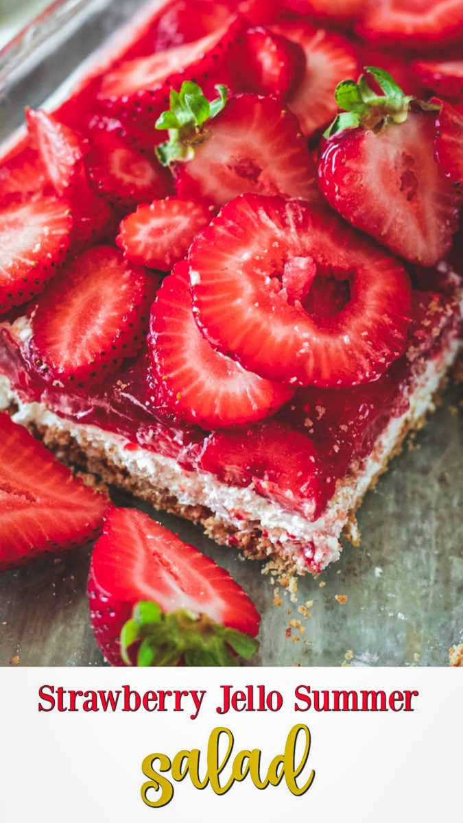 Strawberry Jello Summer Salad is undoubtedly an easy, fabulous and tasty recipe. We enjoy nothing but this incredibly simple and classic dessert.
