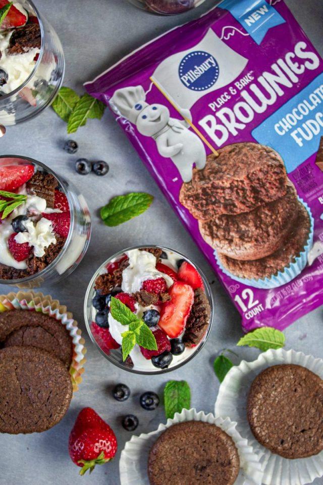 Recipe for Brownies and Yogurt Summer Parfait Recipe