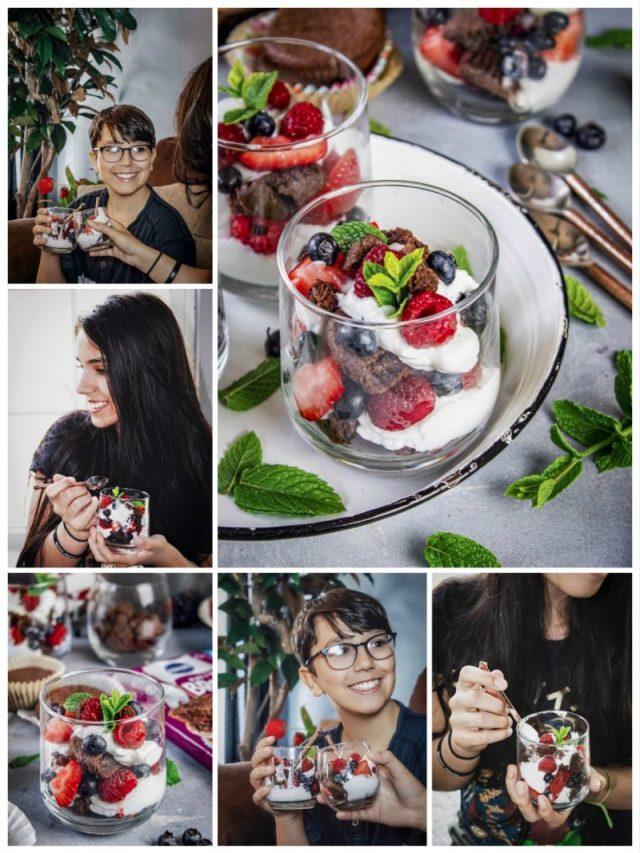 Brownies and Yogurt Summer Parfait Recipe