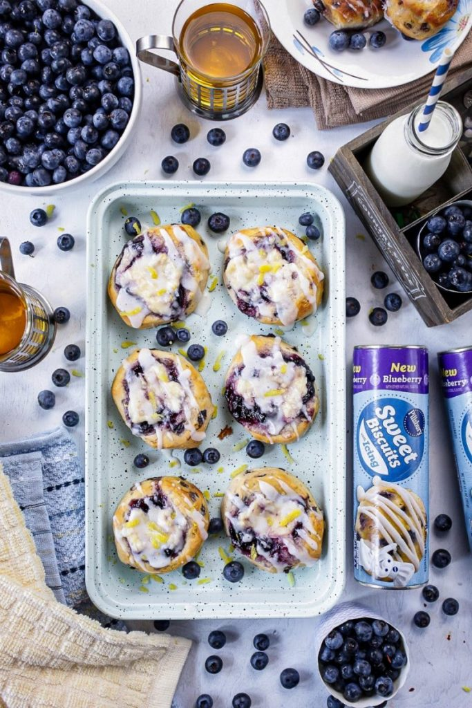 Blueberry Cream Cheese Biscuit Danish