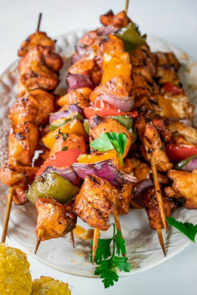 Easy and tasty recipe for Chicken Fajita Skewers