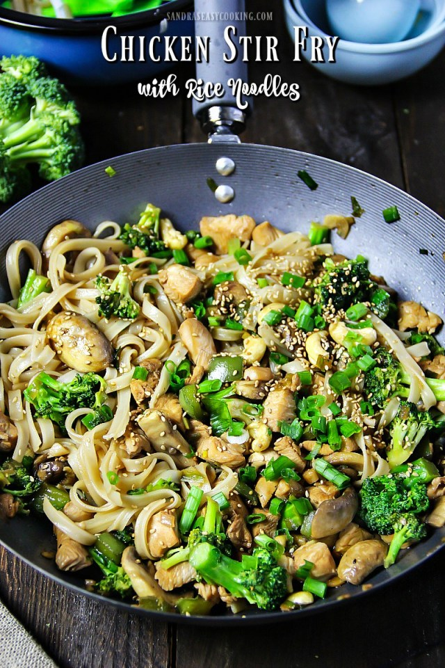Chicken Stir Fry with Rice Noodles Recipe