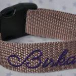 Halsband bestickt