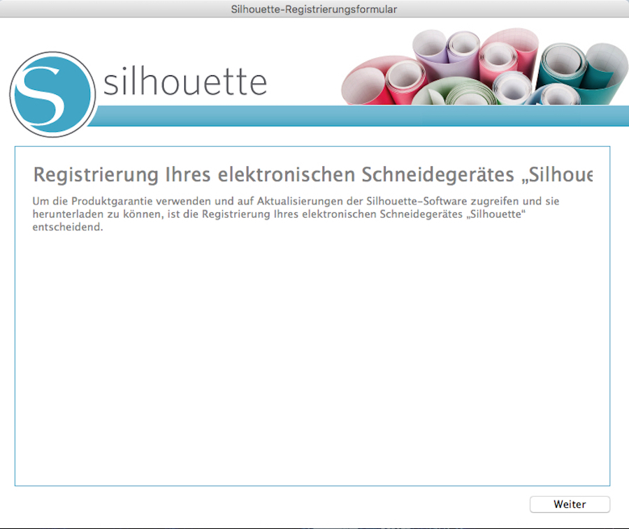 Installation silhouette studio V3 Software Schritt 2