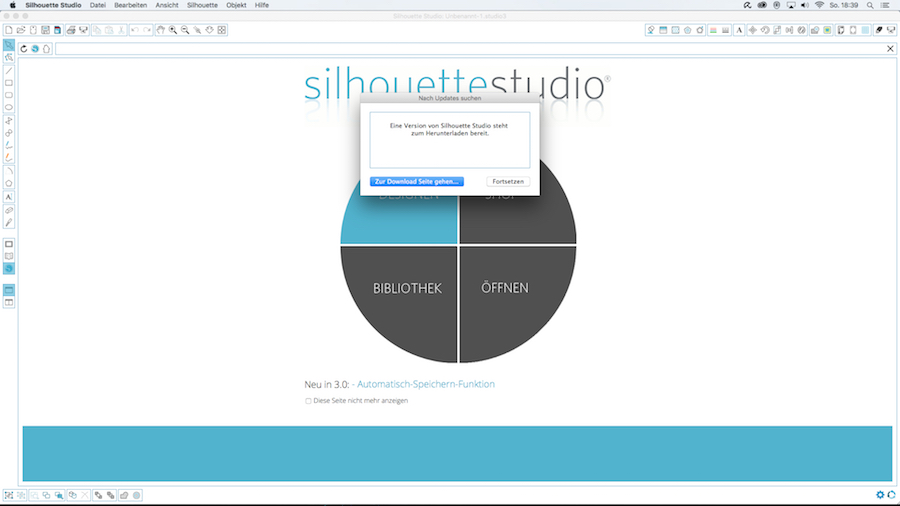 Installation silhouette studio V3 Software Schritt 4