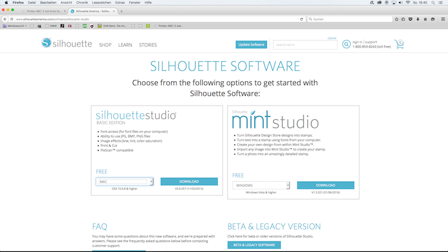 Installation silhouette studio V3 Software Schritt 5