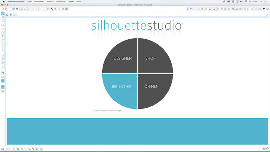 Installation silhouette studio V3 Software Schritt 6