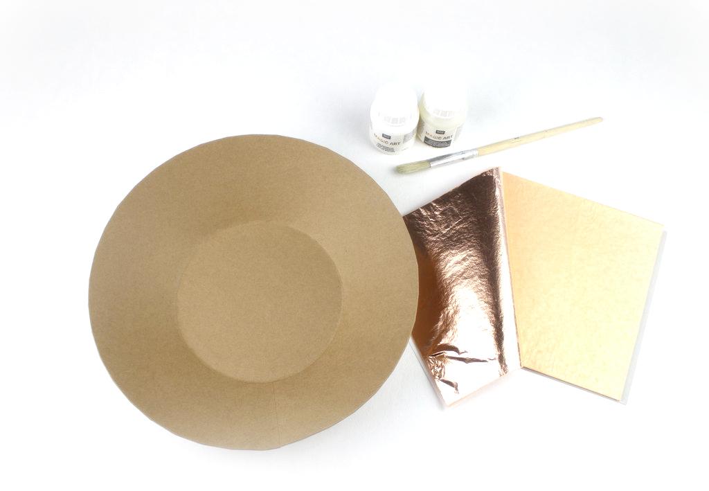 Pappmaché Blattkupfer Anlegemilch