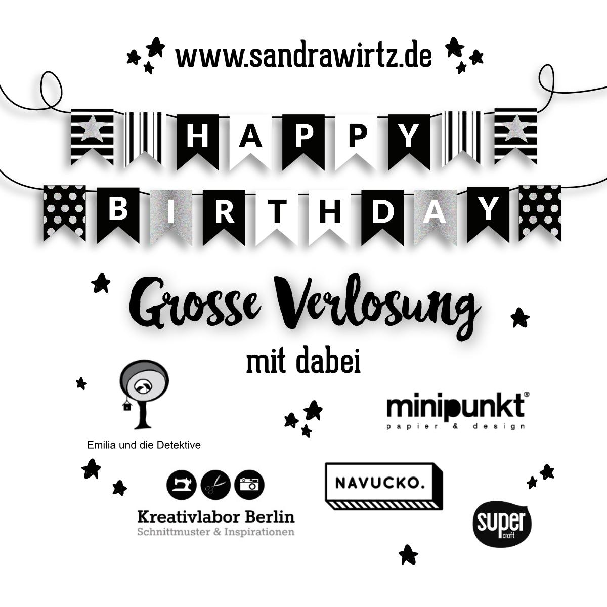 1. Bloggeburtstag Happy Birthday Gewinnspiel