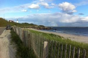Nobska beach and lighthouse