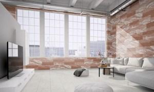 Wand Verblender flexible Sandstein Fliesen Verkleidung im Red-Cloud für ein Designer Loft