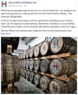 brand awareness example Harris Distillers