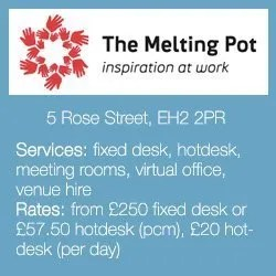 best co-working offices in edinburgh melting pot