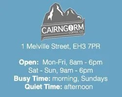 The Best Cafés to Work from in Edinburgh: cairngorm coffee