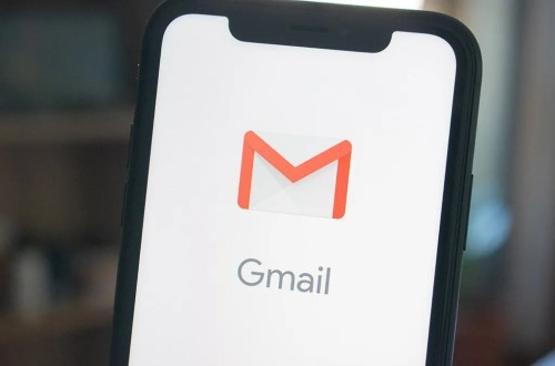 mobile phone showing Gmail logo