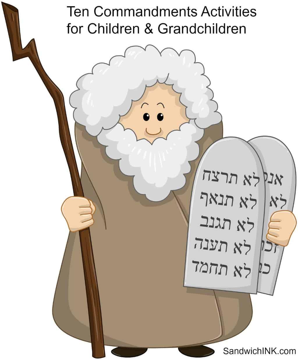 Bible Memory Verses Fun Ten Commandments Activities