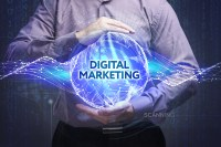 a man harnessing the power of digital marketing