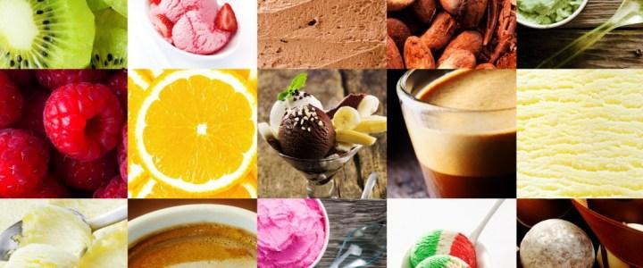 different ice cream flavors