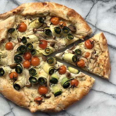 Zucchini and Tomato Galette