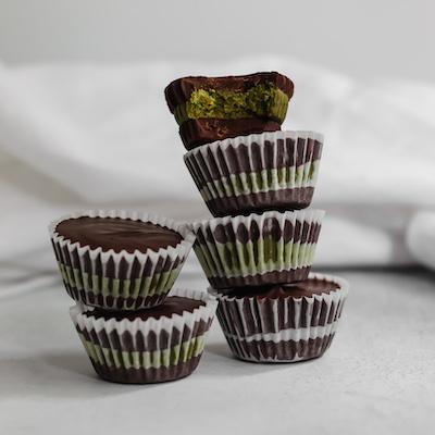 Dark Chocolate Matcha Cups