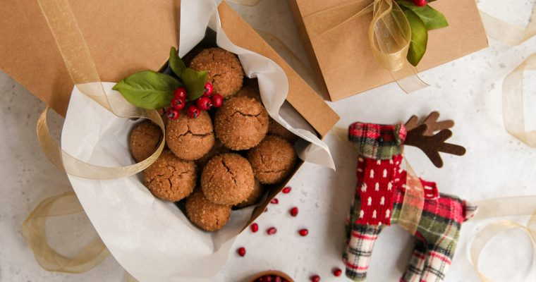 Pomegranate Molasses and Ginger Cookies