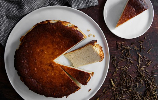 Hojicha Basque Cheesecake