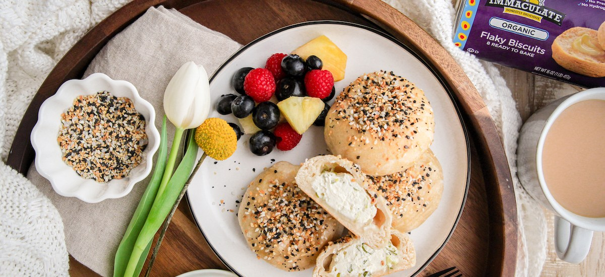 Bagel Bombs with Spring Onion Cream Cheese