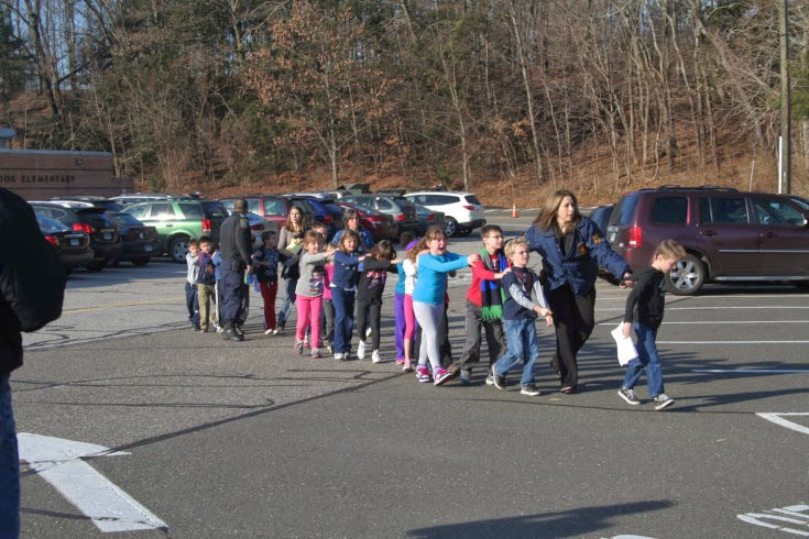 Sandy Hook Elementary Evacuation