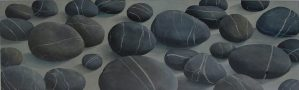 Grey Stones, oil painting on canvas by Sandy Kendall, fine artist