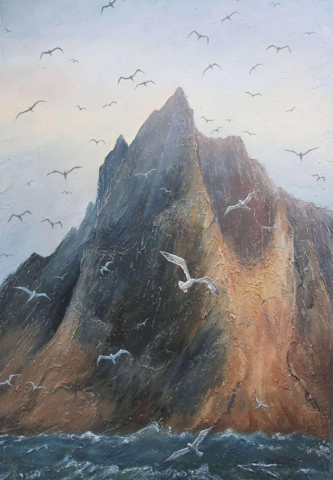 Scottish Island with seabirds Image