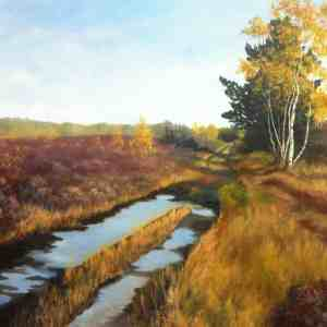 image of fine art greetings card, Whitmore Common, by Sandy Kendall