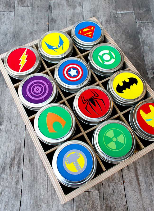 Easy Fathers Day Superhero Gift With Free Printable