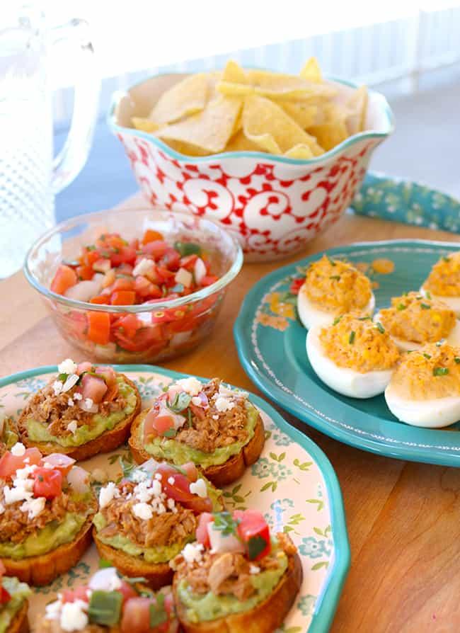 Easy Tuna Deviled Eggs And Tuna Avocado Toast For A Fun OC