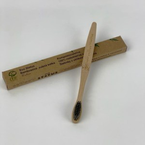 Bambusová zubná kefka s čiernymi štetinami- ECO TOUCH