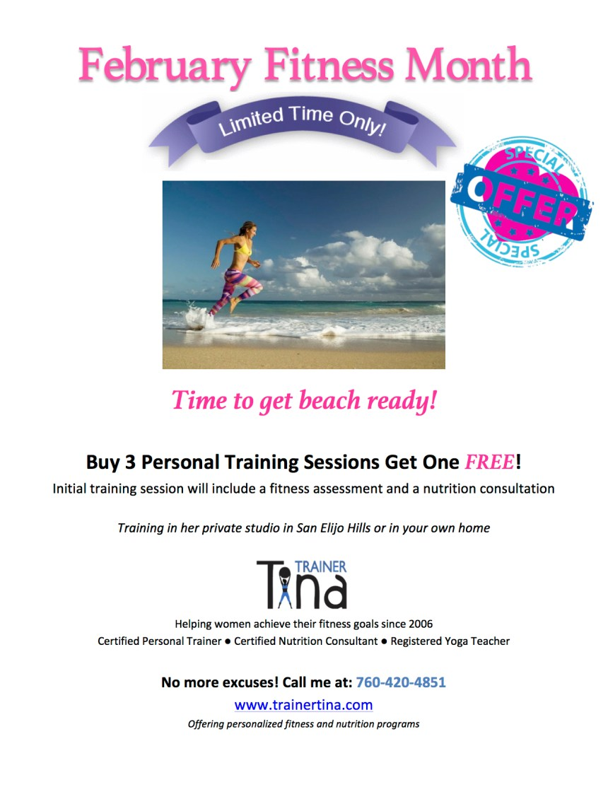 Personal Training February email advertisment