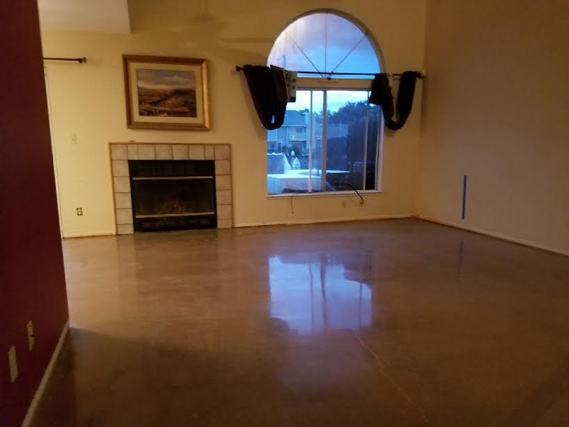 Pittsburg, Ca. Residential Stained Concrete