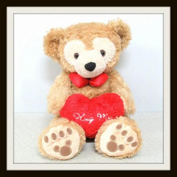 TDS ダッフィー 2005年 バレンタイン Hug Me Sサイズ ぬいぐるみ