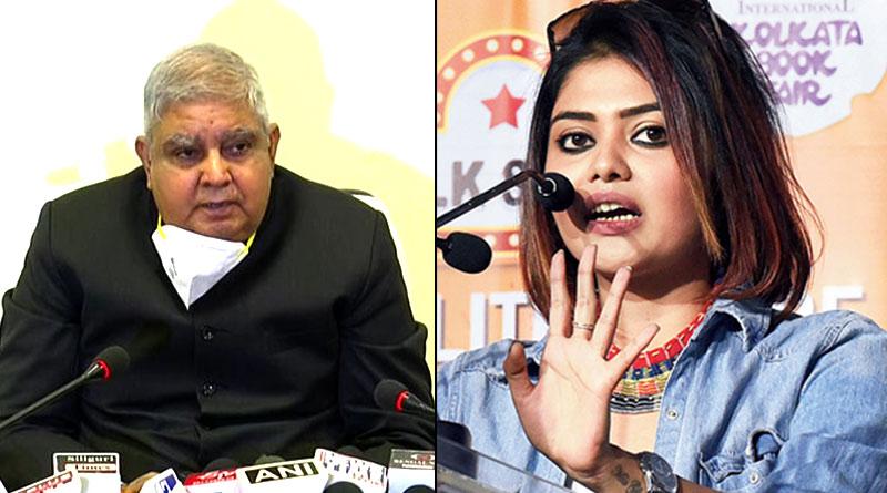 Actress Saayoni Ghosh Slama WB Governor Jagdeep Dhankar on Sitalkuchi issue   Sangbad Pratidin