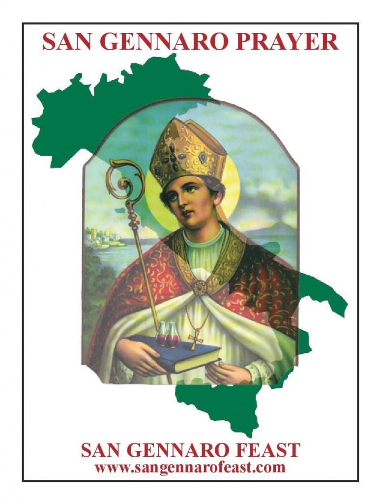 San Gennaro Feast Saint Gennaro Prayer Card
