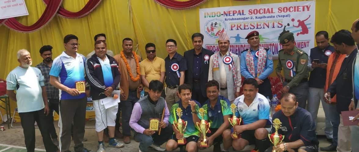 इण्डो नेपाल फ्रेन्डसिप बैडमिंटन टूर्नामेंटको उपाधि: हिमालय टीमलाई