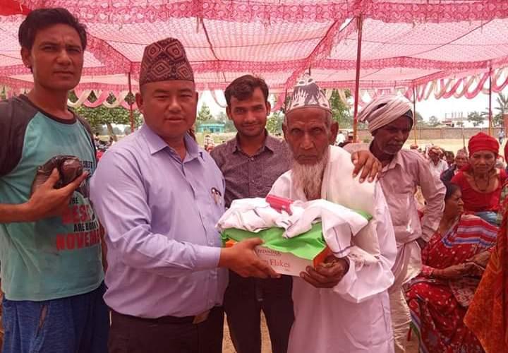 विजयनगरमा २५० जना जेष्ठ नागरिकहरुलाई पौष्टिक आहार बितरण गरि सम्मान