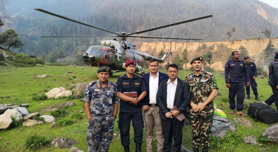 हातहतियार वन्दोववस्तिका समान सहित त्रिदेशीय सीमा क्षेत्रमा नेपाल प्रहरीको गस्ति