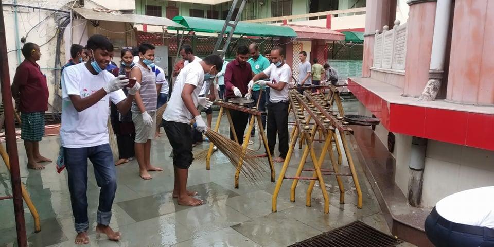 नेपाल युवा परिषद् पर्साद्धारा गहवामाई मन्दिरमा बृहत सरसफाई